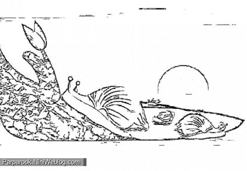 برگه ی رنگ آمیزی درس حلزون فارسی اول دبستان