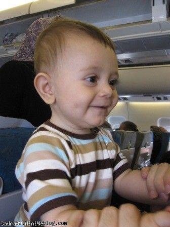محمدصدرا در هواپیما