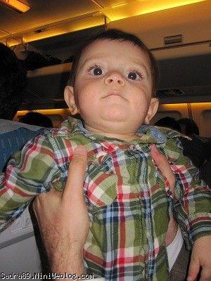 محمد صدرا در هواپیما