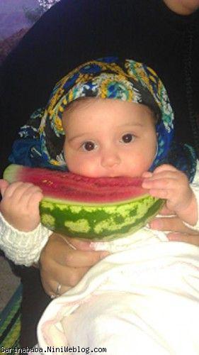 سارینا در 3 ماهگی